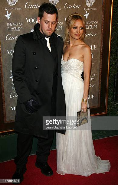 Joel Madden and Nicole Richie arrive at the Art of Elysium 2nd Annual Heaven Gala held at Vibiana on January 10, 2009 in Los Angeles, California.