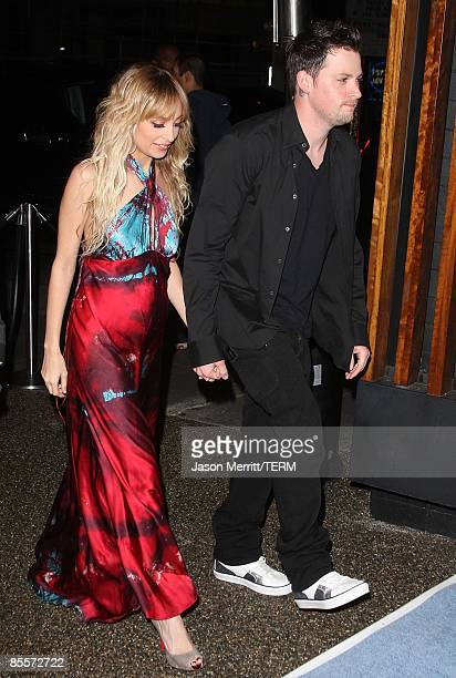 Joel Madden and Nicole Richie arrive to the Sony Cierge and The RichieMadden Children's Foundation's private cocktail event to raise funds for...