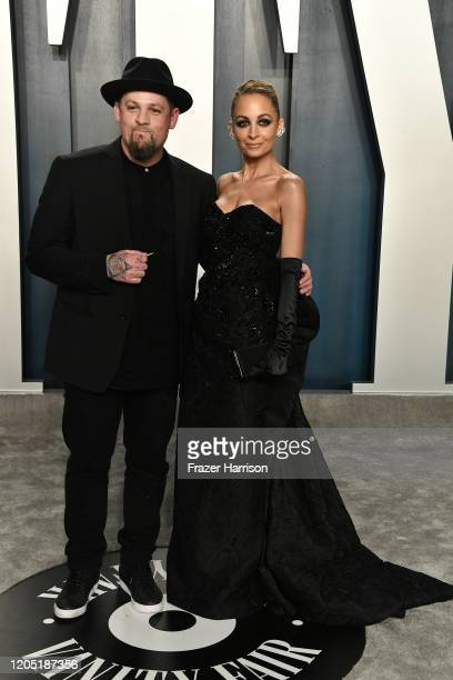 Joel Madden and Nicole Richie attend the 2020 Vanity Fair Oscar Party hosted by Radhika Jones at Wallis Annenberg Center for the Performing Arts on...