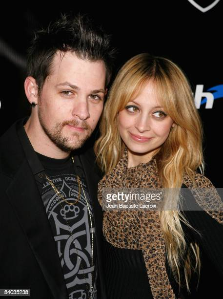 Joel Madden and Nicole Richie attend the Official Footwear Launch For KDCMA at DCMA Flagship Store on December 13 2008 in Los Angeles California
