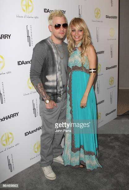 Joel Madden and Nicole Richie launch House of Harlow 1960 Jewelry Collection at Fontainebleau Miami Beach on May 6, 2009 in Miami Beach, Florida.