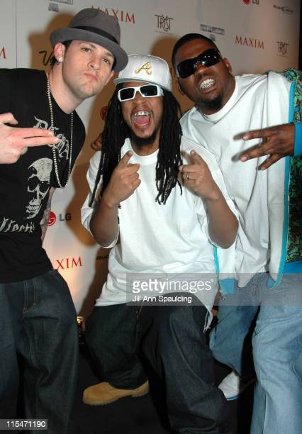 Joel Madden, Lil' Jon and Guest during Maxim Magazine 100th Birthday Celebration - Arrivals at Tryst at Wynn Las Vegas in Las Vegas, Nevada, United...