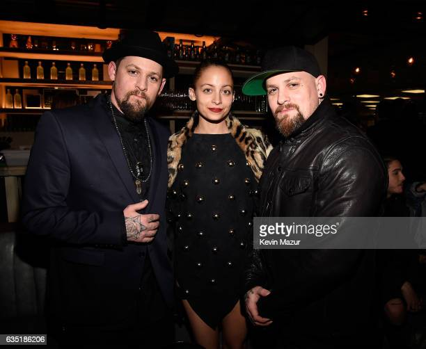 Joel Madden Nicole Richie and Benji Madden attend the Republic Records GRAMMY after party at Catch LA on February 12 2017 in West Hollywood California