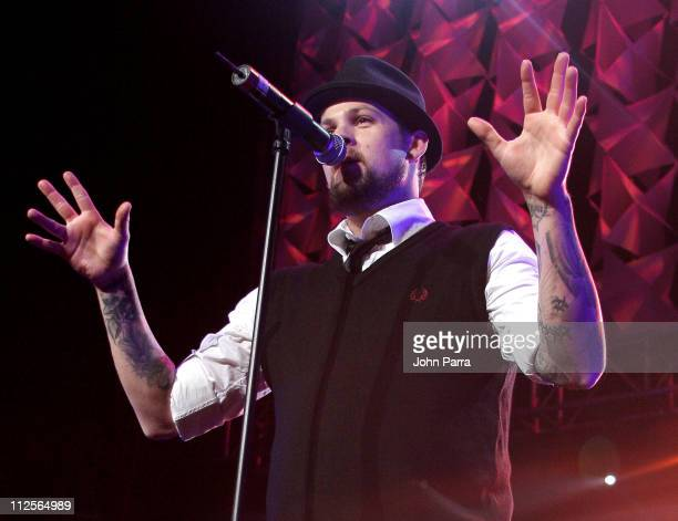 Joel Madden of Good Charlotte performs during the Y100 Jingle Ball concert December 15 2007 at the Bank Atlantic Center in Sunrise Florida