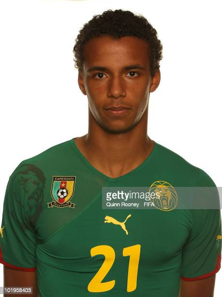 Joel Matip of Cameroon poses during the official FIFA World Cup 2010 portrait session on June 10 2010 in Durban South Africa
