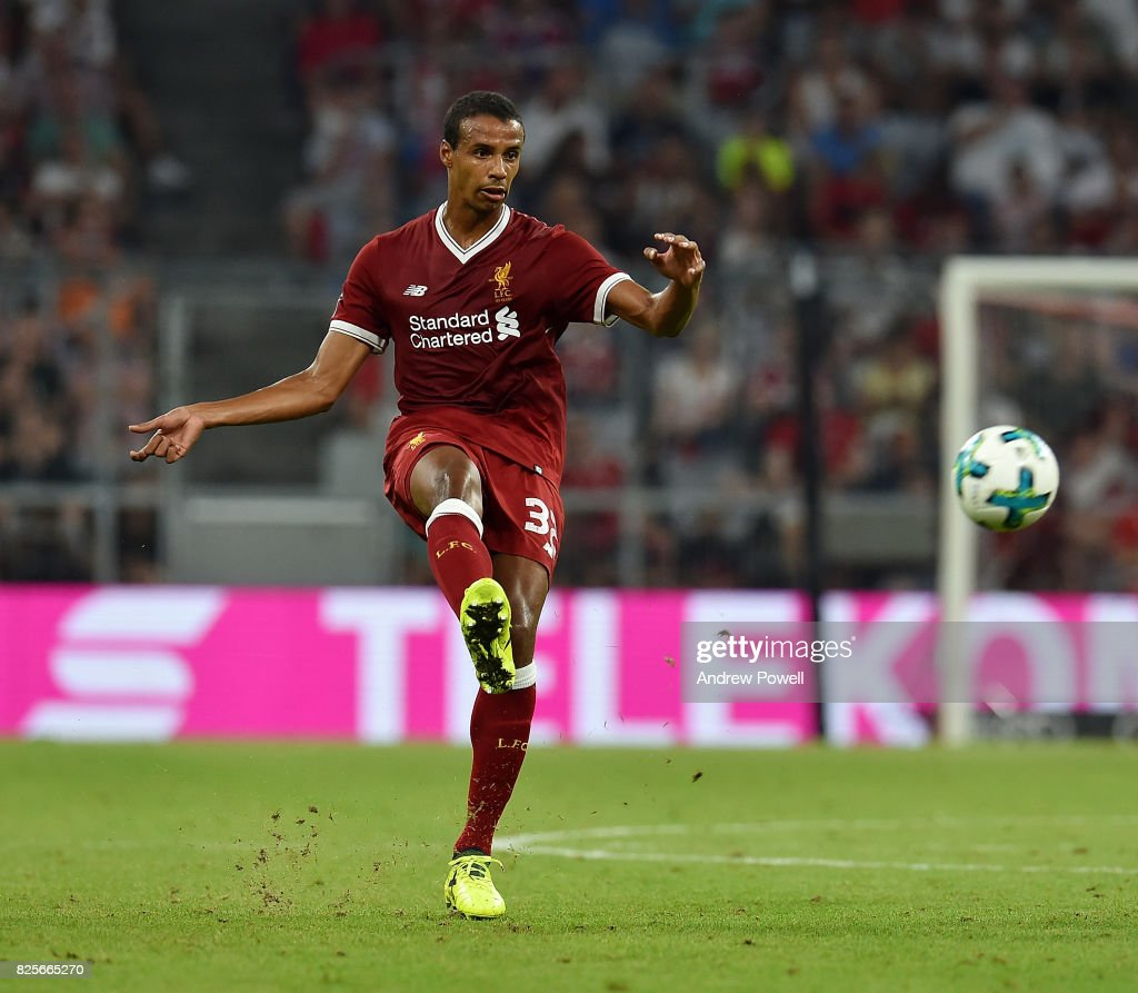 Joel Matip of Liveprool during the Audi Cup 2017 match between Liverpool FC and Atletico Madrid at Allianz Arena on August 2, 2017 in Munich, Germany.