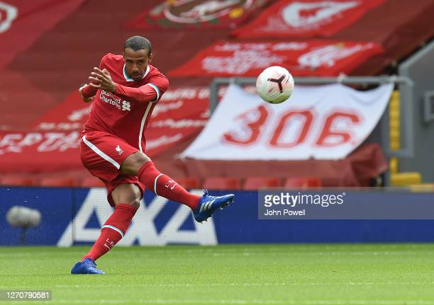 Joel matip of Liverpool at Anfield on September 05, 2020 in Liverpool, England.