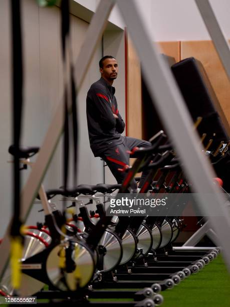 Joel Matip of Liverpool during a gym training session at AXA Training Centre on November 19, 2020 in Kirkby, England.