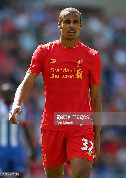 Joel Matip of Liverpool during a preseason friendly between Wigan Athletic and Liverpool at JJB Stadium on July 17 2016 in Wigan England