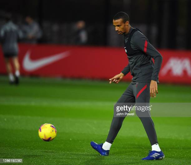Joel Matip of Liverpool during a training session at AXA Training Centre on November 17, 2020 in Kirkby, England.