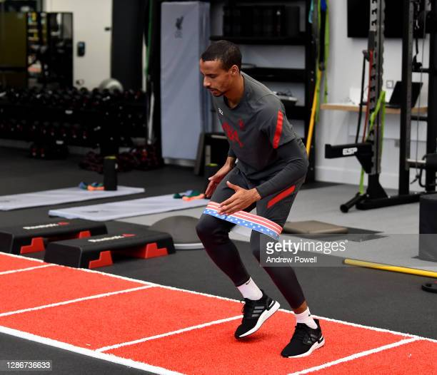 Joel Matip of Liverpool during a training session at AXA Training Centre on November 20, 2020 in Kirkby, England.