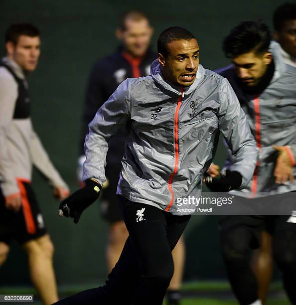 Joel Matip of Liverpool during a training session at Melwood Training Ground on January 20 2017 in Liverpool England