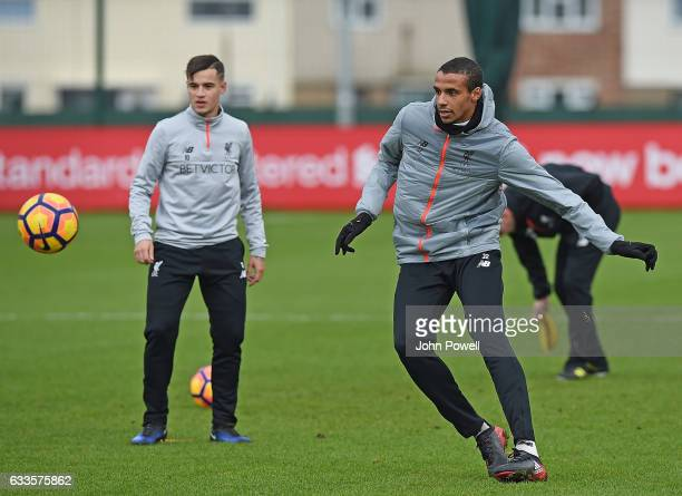 Joel Matip of Liverpool during a training session at Melwood Training Ground on February 2 2017 in Liverpool England