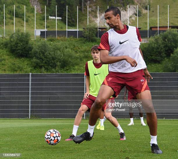 Joel Matip of Liverpool during a training session on July 25, 2021 in UNSPECIFIED, Austria.