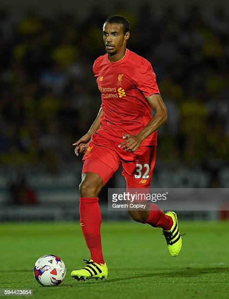 Joel Matip of Liverpool during the EFL Cup match between Burton Albion and Liverpool at Pirelli Stadium on August 23 2016 in Burton upon Trent England