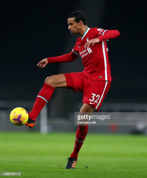 Joel Matip of Liverpool during the Premier League match between Tottenham Hotspur and Liverpool at Tottenham Hotspur Stadium on January 28, 2021 in...