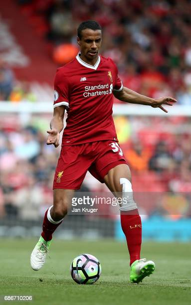 Joel Matip of Liverpool during the Premier League match between Liverpool and Middlesbrough at Anfield on May 21 2017 in Liverpool England