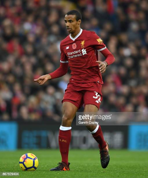 Joel Matip of Liverpool during the Premier League match between Liverpool and Huddersfield Town at Anfield on October 28 2017 in Liverpool England