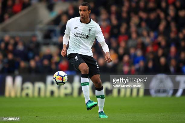 Joel Matip of Liverpool during the Premier League match between Crystal Palace and Liverpool at Selhurst Park on March 31 2018 in London England