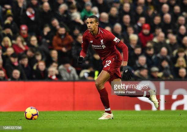 Joel Matip of Liverpool during the Premier League match between Liverpool FC and Crystal Palace at Anfield on January 19 2019 in Liverpool United...