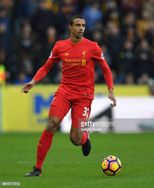 Joel Matip of Liverpool during the Premier League match between Hull City and Liverpool at KCOM Stadium on February 4 2017 in Hull England