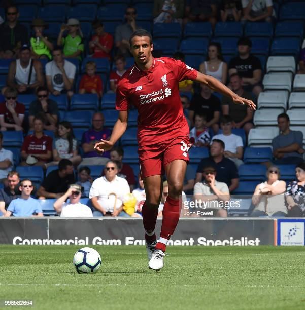 Joel Matip of Liverpool during the PreSeason friendly match between Bury and Liverpool at Gigg Lane on July 14 2018 in Bury England
