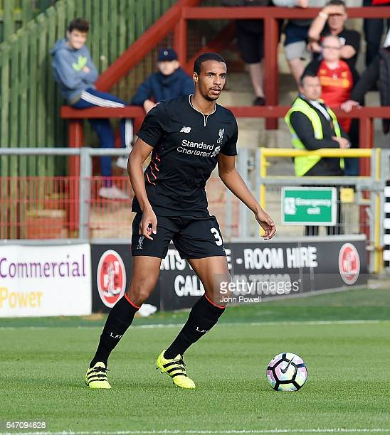 Joel Matip of Liverpool during the Pre-Season Friendly match bewteen Fleetwood Town and Liverpool at Highbury Stadium on July 13, 2016 in Fleetwood,...