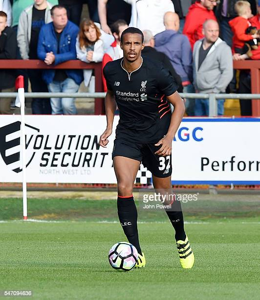 Joel Matip of Liverpool during the PreSeason Friendly match bewteen Fleetwood Town and Liverpool at Highbury Stadium on July 13 2016 in Fleetwood...