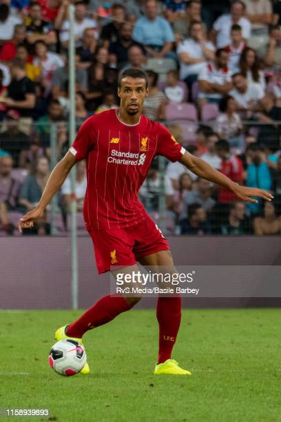 Joel Matip of Liverpool FC in action during the Pre-Season Friendly match between Liverpool FC and Olympique Lyonnais at Stade de Geneve on July 31,...