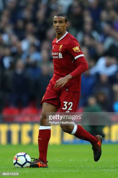 Joel Matip of Liverpool in action during the Premier League match between Tottenham Hotspur and Liverpool at Wembley Stadium on October 22 2017 in...