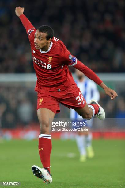 Joel Matip of Liverpool in action during the UEFA Champions League Round of 16 Second Leg match between Liverpool and FC Porto at Anfield on March 6...