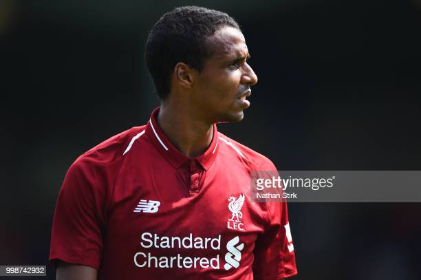 Joel Matip of Liverpool looks on during the preseason friendly match between Bury and Liverpool at Gigg Lane on July 14 2018 in Bury England