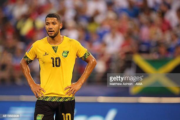 Joel McAnuff of Jamaica during the Gold Cup Quarter Final between Haiti and Jamaica at MT Bank Stadium on July 18 2015 in Baltimore Maryland