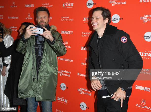 Joel McHale and Bill Skarsgard attend the 'Assassination Nation' Premiere during the 2018 Sundance Film Festival at Park City Library on January 21...