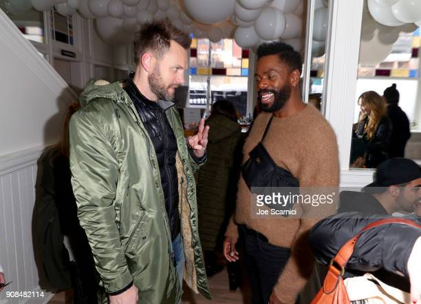 Joel McHale and Colman Domingo stop by DIRECTV Lodge presented by ATT during Sundance Film Festival 2018 on January 21 2018 in Park City Utah