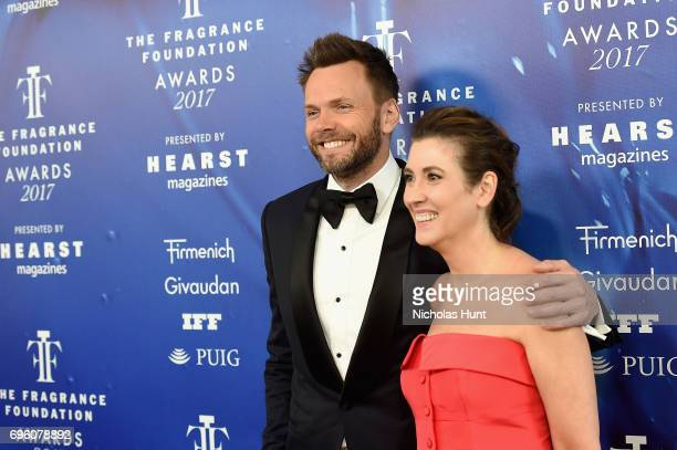 Joel McHale and Elizabeth Musmanno attend the 2017 Fragrance Foundation Awards Presented By Hearst Magazines at Alice Tully Hall on June 14 2017 in...