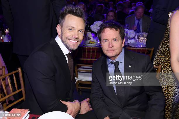 Joel McHale and Michael J Fox attend A Funny Thing Happened On The Way To Cure Parkinson's benefitting The Michael J Fox Foundation on November 16...