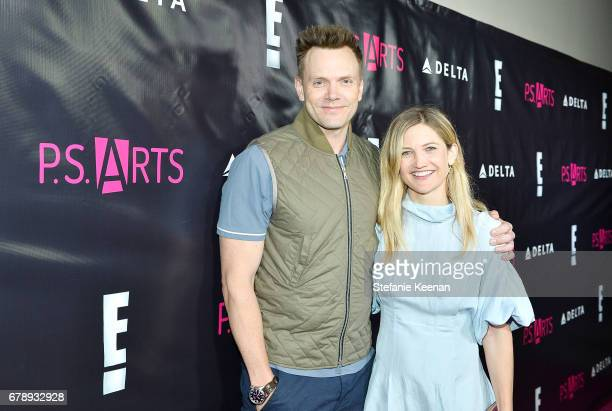 Joel McHale and Sarah Williams attend PS ARTS' the pARTy 2017 at NeueHouse Hollywood on May 4 2017 in Los Angeles California