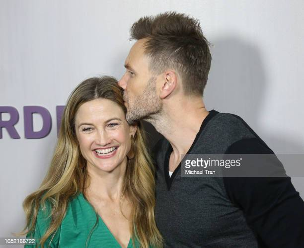 Joel McHale and Sarah Williams attend the 2018 Hammer Museum Gala In The Garden held on October 14 2018 in Los Angeles California