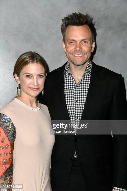 Joel McHale and Sarah Williams attend the 2019 Hammer Museum Gala In The Garden at Hammer Museum on October 12 2019 in Los Angeles California