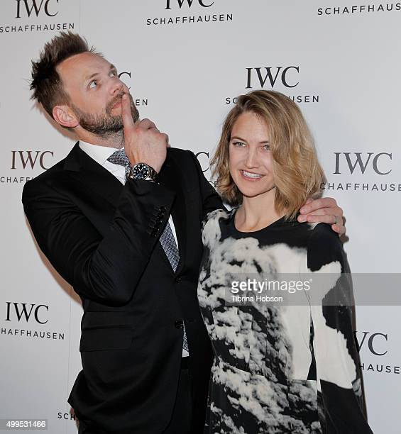 Joel McHale and Sarah Williams attend the IWC Schaffhausen Rodeo Drive grand opening at IWC Shaffhausen on December 1 2015 in Beverly Hills California