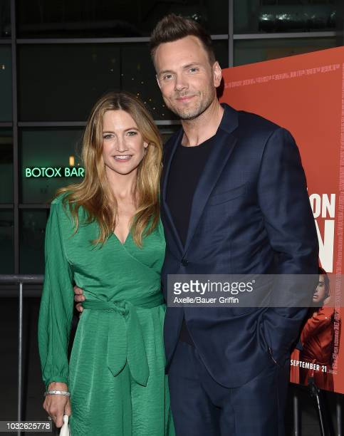 Joel McHale and Sarah Williams attend the premiere of Neon and Refinery29's 'Assassination Nation' at ArcLight Hollywood on September 12 2018 in...