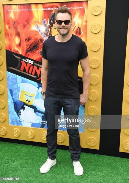 Joel McHale arrives at the premiere of Warner Bros Pictures' 'The LEGO Ninjago Movie' at Regency Village Theatre on September 16 2017 in Westwood...