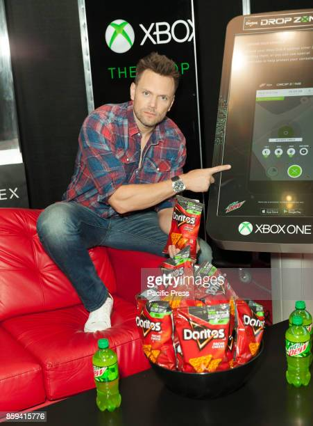 Joel McHale attends Comic Con 2017 Day 1 at Javits Center to promote Doritos chips Mountain Dew Microsoft Xbox