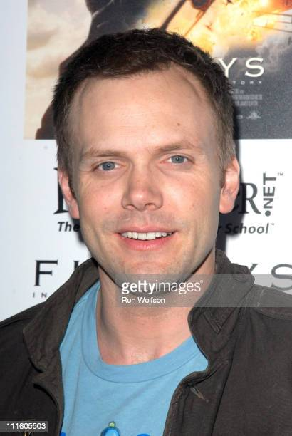 Joel McHale during 'Flyboys' Los Angeles Screening at Academy of Motion Picture Arts and Sciences in Beverly Hills CA United States