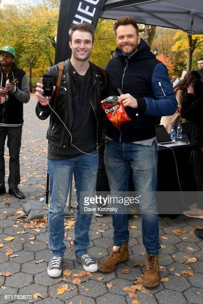 Joel McHale gifts new Xbox One X consoles in New York City to winning player Kyle Kerr in Mtn Dew Doritos and Xbox Drop Zone the first of this...