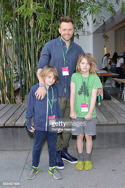 Joel McHale Isaac McHale and Edward McHale attend Hammer Museum KAMP 2016 on May 22 2016 in Los Angeles California