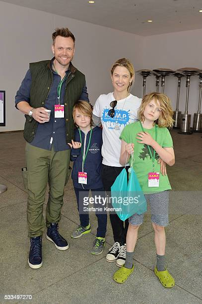 Joel McHale Isaac McHale Sarah Williams Edward McHale attend Hammer Museum KAMP 2016 on May 22 2016 in Los Angeles California