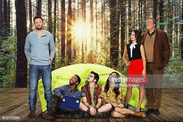 Joel McHale Shaun Brown Christopher MintzPlasse Christine Ko Susannah Fielding Stephen Fry star in in THE GREAT INDOORS that premieres Thursday Oct...