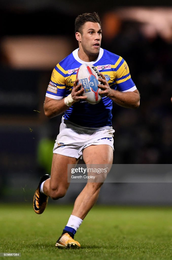 Joel Moon of Leeds during the Betfred Super League match between Leeds Rhinos and Hull FC at Headingley Stadium on March 8, 2018 in Leeds, England.